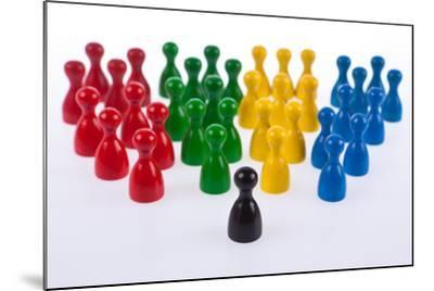 Gaming Pieces in Colour Formations and Single Token, Symbolism-Catharina Lux-Mounted Photographic Print