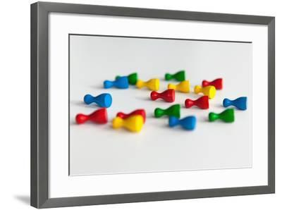 Lying Playing Pieces, Symbolism-Catharina Lux-Framed Photographic Print
