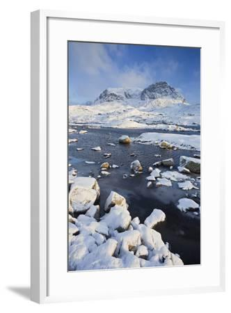 Norway, Hardangervidda National Park, Mountain Landscape, Winter-Rainer Mirau-Framed Photographic Print