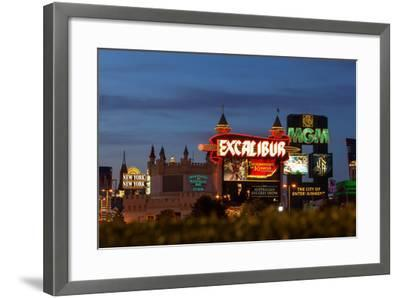 USA, Las Vegas, the Strip, Neon Lights-Catharina Lux-Framed Photographic Print