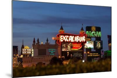 USA, Las Vegas, the Strip, Neon Lights-Catharina Lux-Mounted Photographic Print