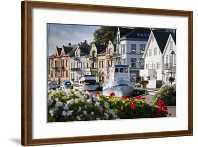 Norway, Rogaland, Farsund, Harbour-Rainer Mirau-Framed Photographic Print