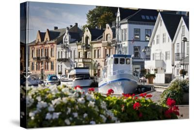 Norway, Rogaland, Farsund, Harbour-Rainer Mirau-Stretched Canvas Print