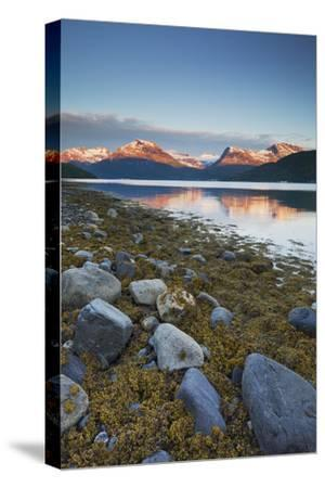 Norway, Nordland, Gratangen Fjord, Dudalstinden, Rock-Rainer Mirau-Stretched Canvas Print
