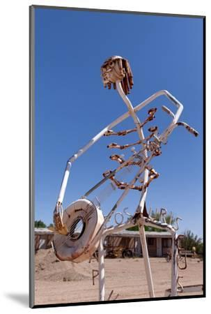 USA, Utah, Highway 24, Deserted Place, Metal Figures-Catharina Lux-Mounted Photographic Print