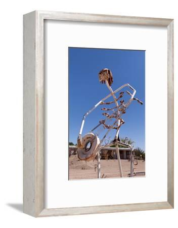 USA, Utah, Highway 24, Deserted Place, Metal Figures-Catharina Lux-Framed Photographic Print