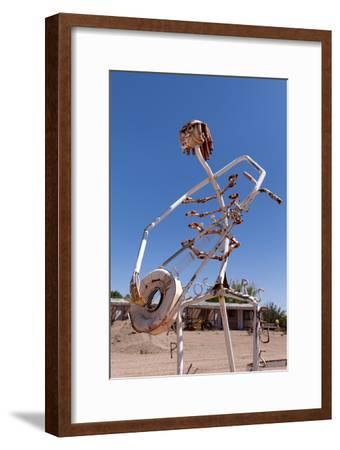USA, Utah, Highway 24, Deserted Place, Metal Figures-Catharina Lux-Framed Premium Photographic Print