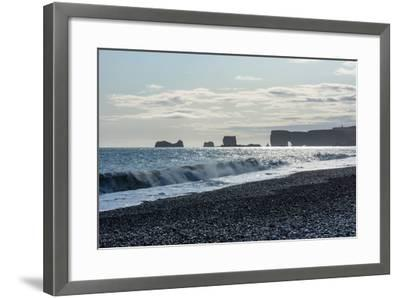 At the Black Sandy Beach of Reynisfjara-Catharina Lux-Framed Photographic Print