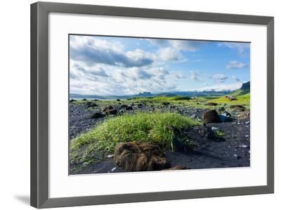 At the Black Sandy Beach of Reynisfjara-Catharina Lux-Framed Photographic Print