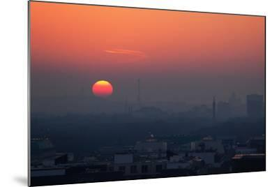 Berlin, Sunset, Silhouettes-Catharina Lux-Mounted Photographic Print