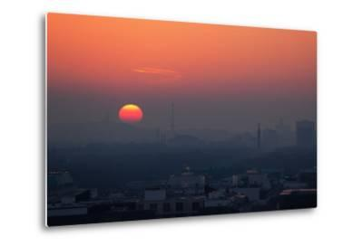 Berlin, Sunset, Silhouettes-Catharina Lux-Metal Print