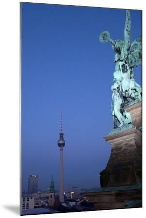 Berlin, Cathedral, Distant View, Television Tower, Evening-Catharina Lux-Mounted Photographic Print