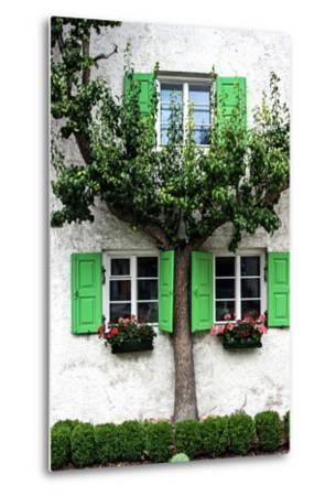 House, View, Tree-Jule Leibnitz-Metal Print