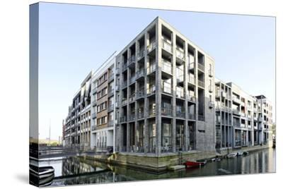 Modern Architecture, Apartments in Sluseholmen, Copenhagen, Denmark, Scandinavia-Axel Schmies-Stretched Canvas Print