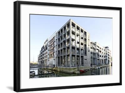 Modern Architecture, Apartments in Sluseholmen, Copenhagen, Denmark, Scandinavia-Axel Schmies-Framed Photographic Print