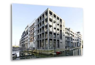 Modern Architecture, Apartments in Sluseholmen, Copenhagen, Denmark, Scandinavia-Axel Schmies-Metal Print