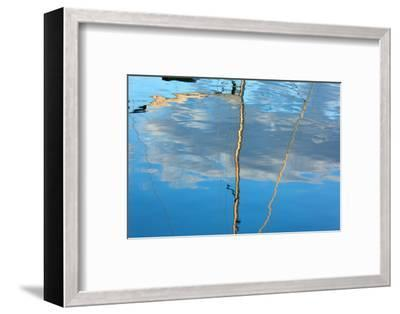 The Baltic Sea, Dar§, Wustrow, Harbour, Sailing Ship, Masts, Water Reflection-Catharina Lux-Framed Photographic Print