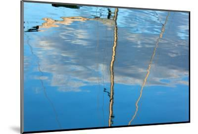 The Baltic Sea, Dar§, Wustrow, Harbour, Sailing Ship, Masts, Water Reflection-Catharina Lux-Mounted Photographic Print