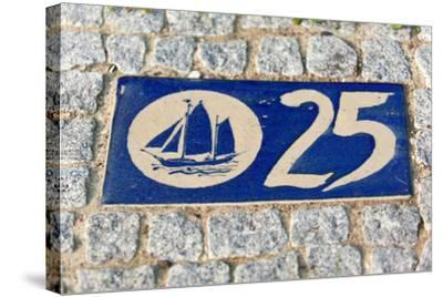 Baltic Sea Spa Wustrow, Paving Stones, Tile, House Number, Sailboat-Catharina Lux-Stretched Canvas Print