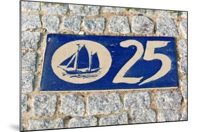 Baltic Sea Spa Wustrow, Paving Stones, Tile, House Number, Sailboat-Catharina Lux-Mounted Photographic Print