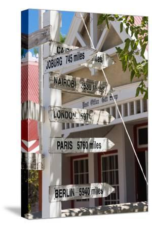 South Africa, Matjiesfontein, Signpost-Catharina Lux-Stretched Canvas Print
