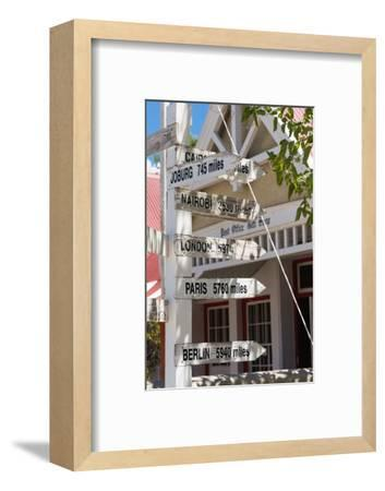 South Africa, Matjiesfontein, Signpost-Catharina Lux-Framed Photographic Print