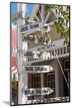South Africa, Matjiesfontein, Signpost-Catharina Lux-Mounted Photographic Print