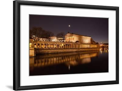 Berlin, Museumsinsel (Museum Island), UNESCO World Heritage, Night-Catharina Lux-Framed Photographic Print