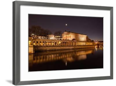 Berlin, Museumsinsel (Museum Island), UNESCO World Heritage, Night-Catharina Lux-Framed Photographic Print