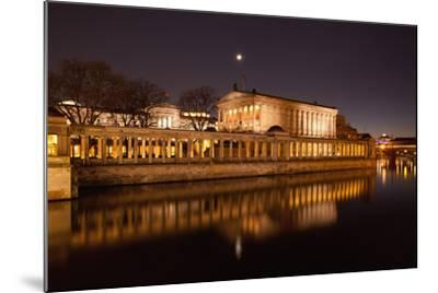 Berlin, Museumsinsel (Museum Island), UNESCO World Heritage, Night-Catharina Lux-Mounted Photographic Print