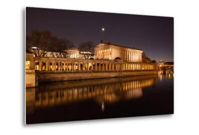 Berlin, Museumsinsel (Museum Island), UNESCO World Heritage, Night-Catharina Lux-Metal Print