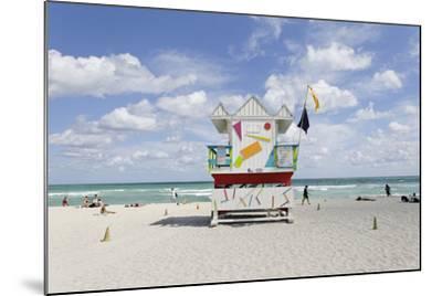 Beach Lifeguard Tower '6 St', Typical Art Deco Design, Miami South Beach-Axel Schmies-Mounted Photographic Print