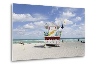 Beach Lifeguard Tower '6 St', Typical Art Deco Design, Miami South Beach-Axel Schmies-Metal Print