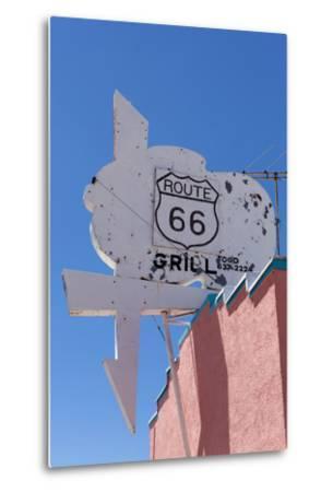 USA, Arizona, Route 66, Old Billboard-Catharina Lux-Metal Print