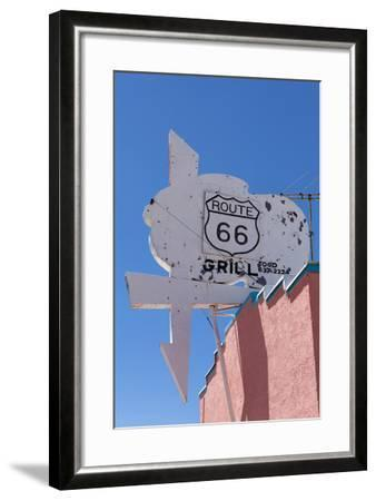 USA, Arizona, Route 66, Old Billboard-Catharina Lux-Framed Photographic Print