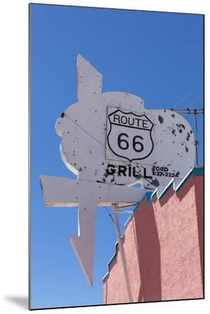 USA, Arizona, Route 66, Old Billboard-Catharina Lux-Mounted Photographic Print