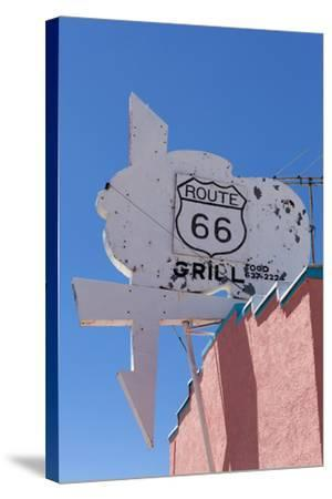 USA, Arizona, Route 66, Old Billboard-Catharina Lux-Stretched Canvas Print