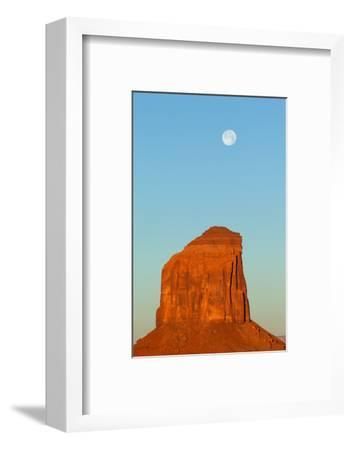 USA, Monument Valley, Rock and Full Moon-Catharina Lux-Framed Photographic Print