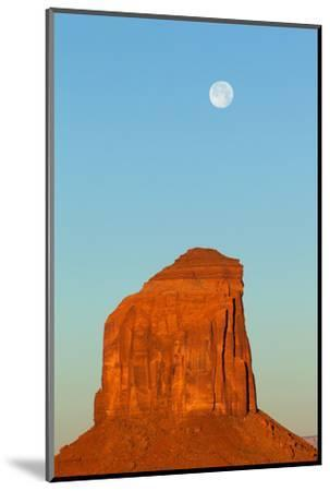 USA, Monument Valley, Rock and Full Moon-Catharina Lux-Mounted Photographic Print