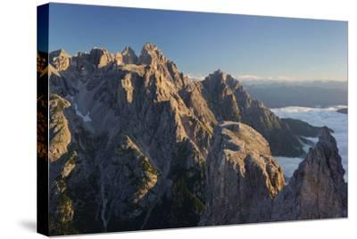 Neunerkofel, South Tyrol, the Dolomites Mountains, Italy-Rainer Mirau-Stretched Canvas Print