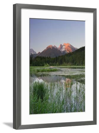 Pigeon Lake, Cold for High, Berchtesgadener Land District, Bavaria, Germany-Rainer Mirau-Framed Photographic Print