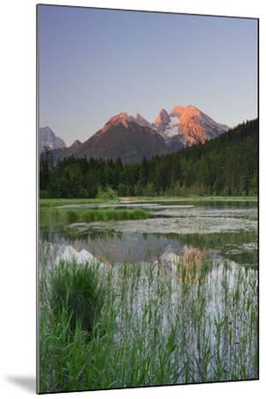 Pigeon Lake, Cold for High, Berchtesgadener Land District, Bavaria, Germany-Rainer Mirau-Mounted Photographic Print