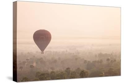 Aerial View of Ancient Temples of Bagan at Sunrise with Balloon in Myanmar-Harry Marx-Stretched Canvas Print