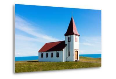 Peninsula Snaefellsnes, Church in Hellnar-Catharina Lux-Metal Print