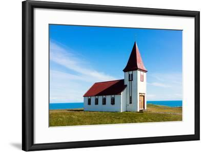 Peninsula Snaefellsnes, Church in Hellnar-Catharina Lux-Framed Photographic Print