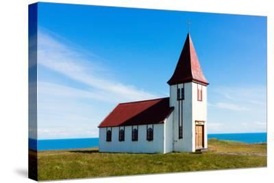 Peninsula Snaefellsnes, Church in Hellnar-Catharina Lux-Stretched Canvas Print