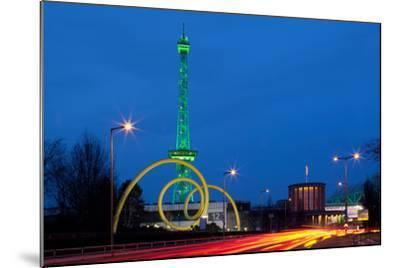 Berlin, Radio Tower, Looping Sculpture, Night-Catharina Lux-Mounted Photographic Print