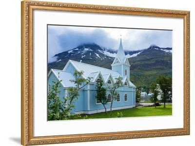 Seydisfjšrdur, Blue Church-Catharina Lux-Framed Photographic Print