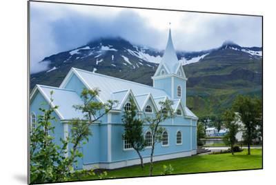 Seydisfjšrdur, Blue Church-Catharina Lux-Mounted Photographic Print