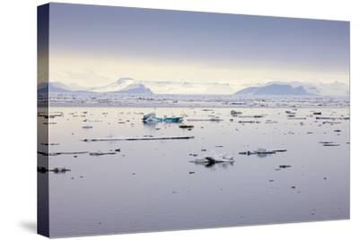 Norway, Spitsbergen, Drift Ice-Frank Lukasseck-Stretched Canvas Print